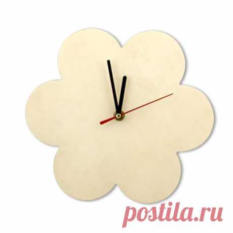 """Заготовка для декорирования Mr. Carving """"Часы. Цветок"""", 23,5x23,5x0,7 см"""