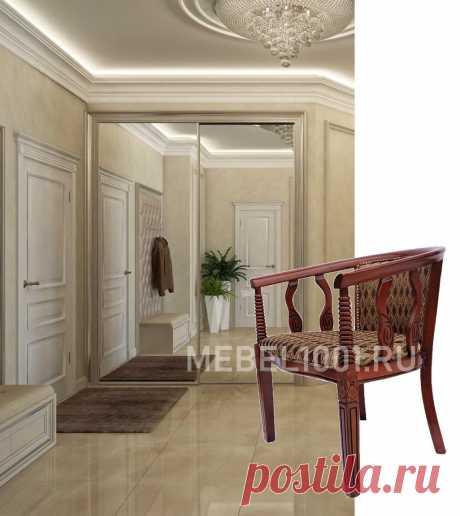 Стул с подлокотниками из массива гевеи с мягкой спинкой и сиденьем В-5. Кресло изготовлено в классическом стиле из твердых пород дерева. Затонировано под цвет темный орех, покрыто 3-мя слоями глянцевого лака. Сиденье и спинка мягкие. Материал: Кресло: малазийский дуб + обивочная ткань (гобелен). Столик: малазийский дуб В комплект входит столик с круглой столешницей (диаметр 600) и 2 кресла с подлокотниками