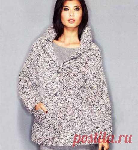 Пальто спицами для полных женщин – 11 моделей со схемами и описанием вязания, мк видео — Пошивчик одежды