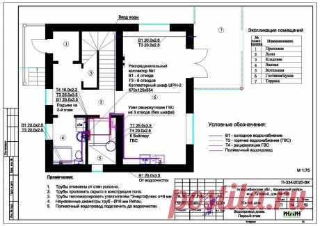 Проект отопления частного дома, пример 1354