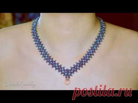 Beautiful beaded necklace. How to make beaded jewelry
