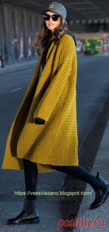 Уютное пальто-кардиган для межсезонья. Крючком. / ВСЕ СВЯЗАНО. ROSOMAHA.