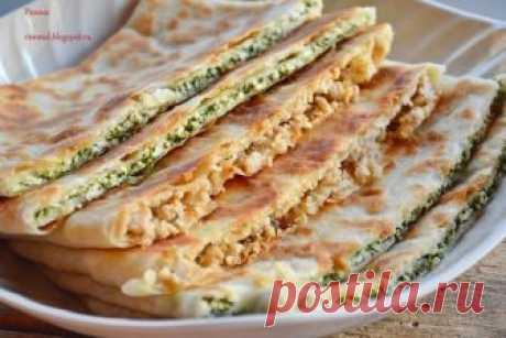 Гёзлеме (Турецкие лепешки с мясом и сыром и шпинатом) — Фактор Вкуса