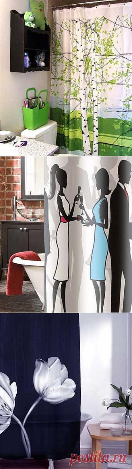 Модные занавески для ванной комнаты - Учимся Делать Все Сами