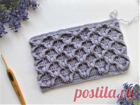 Потрясающий УЗОР крючком / Crochet Pattern / Awesome crochet pattern for snood.