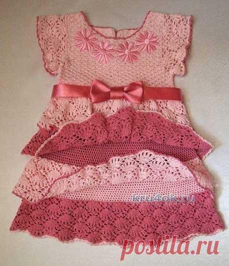 Вяжем платье дочке