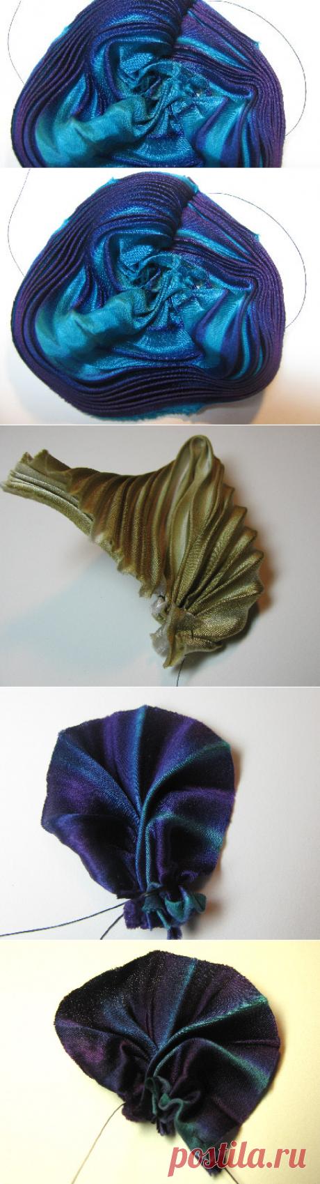 Beading Arts: Making pleated silk shibori ribbon flowers - part one