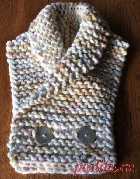 Amazing Knitting: Warm & Cozy Collar Scarf with Buttons - Free Pattern