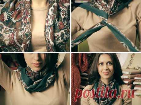 Как повязать платок на шею — Делаем Руками