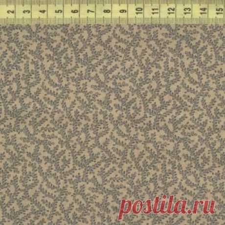 Веточки голубые на бежевом ф. W33439-2