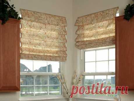 Римские и рулонные шторы: шьем сами — Рукоделие
