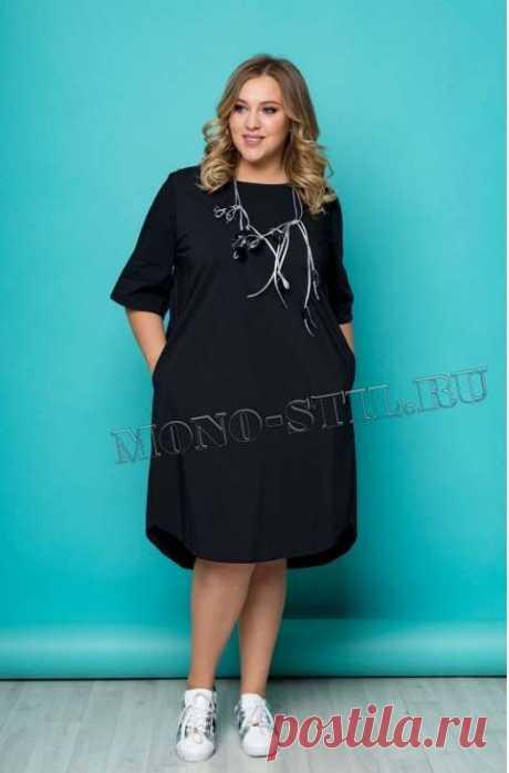Платья для полных женщин российской компании Моно-Стиль осень 2018