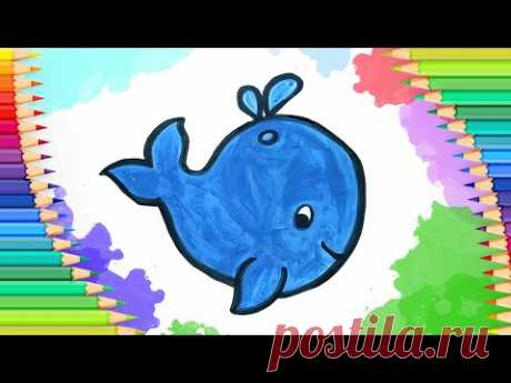 Как нарисовать кита l Простые рисунки для детей - YouTube