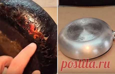 Простой способ удаления ненавистного нагара со сковороды без использования какой-либо «химии»