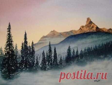 Рисуем зимние горы — DIYIdeas