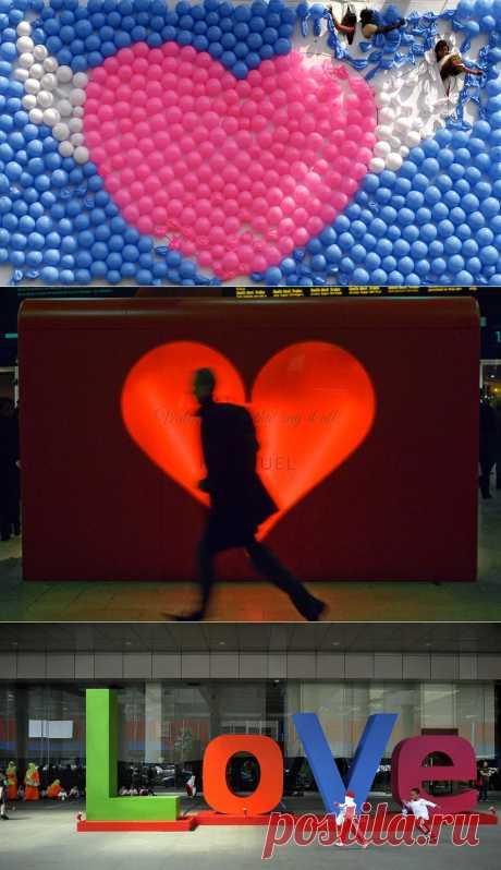 День Святого Валентина Фото со всего мира : НОВОСТИ В ФОТОГРАФИЯХ