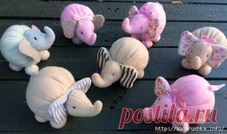 Мини слоник для начинающих кукольников