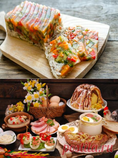 Пасхальный стол: топ 15 праздничных блюд. Украшение пасхальных блюд | Четыре вкуса