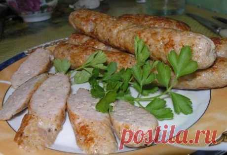 Как приготовить домашние куриные колбаски - рецепт, ингредиенты и фотографии