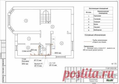 Проект отопления частного дома, пример 1541