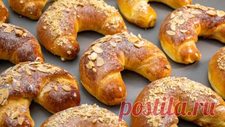 Готовлю мои любимые булочки-рогалики с разными начинками: удачное, мягкое тесто, которое получается даже у новичков   Евгения Полевская   Это просто   Яндекс Дзен