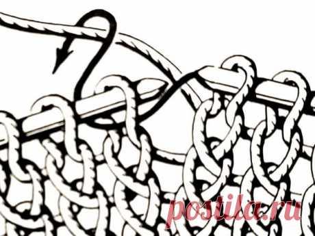 Урок вязания спицами: Скрещенные петли ~ Свое рукоделие