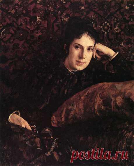 Портрет Е.Н.Чоколовой. 1887      Валентин Александрович Серов (1865-1911). Часть 1: vakin