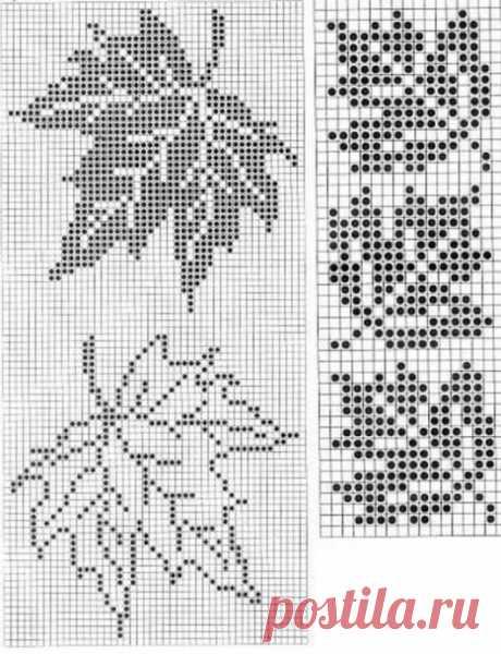 Схемы для ценителей филейного вязания