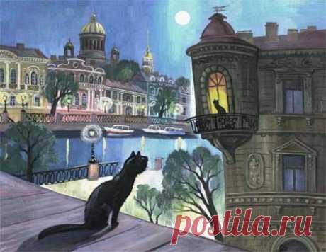 Нарисованные коты.Часть2/Коты Санкт-Петербурга. | Лолкот.Ру