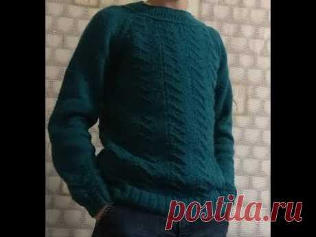 "Экспресс мастер-класс мужского пуловера ""Изумруд"""