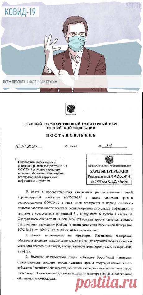 Масочный режим по всей России и запрет ночных клубов: новое постановление Роспотребнадзора