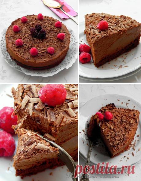 Изысканный шоколадный торт с муссом | Перо на кухне