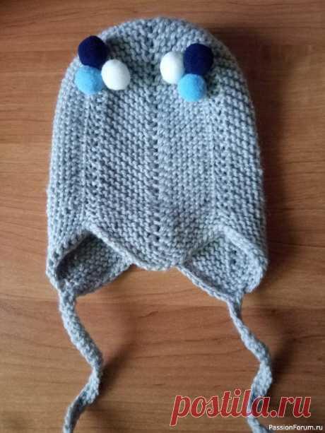 Шапочка для малыша   Вязание спицами для детей