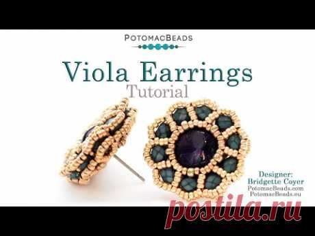 Viola Earrings - DIY Jewelry Making Tutorial by PotomacBeads