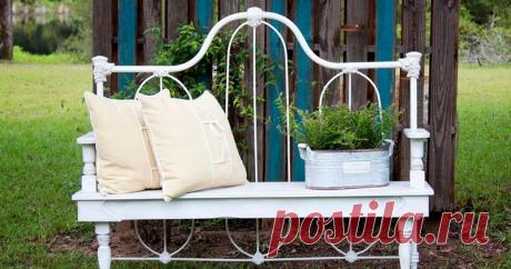 Подборка идей по переделке старых кроватей