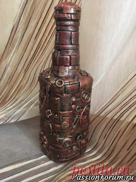 Бутылки в разных стилях - запись пользователя Капелька в сообществе Декор в категории Декор. Работы пользователей