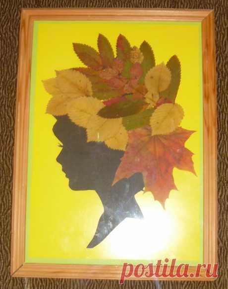 Аппликация девушка осень из листьев — 17 идей ⭐ Забавник