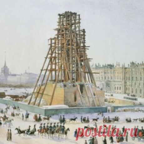 Александровская колонна в Петербурге: кто ее настоящий создатель? | Журнал РЕПИН.инфо