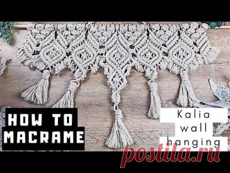 🏵️ How to DIY Big Macrame Wall Hanging    Advanced Step by Step Tutorial
