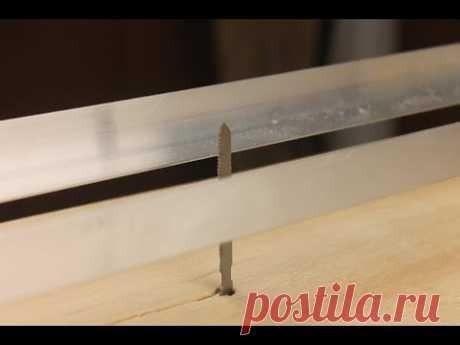 Станина для лобзика за 15 минут, ровный рез под углом 45 и 90 градусов - YouTube