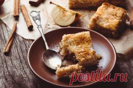 Насыпной яблочный пирог с яблоками за 7 минут рецепт с фото - 1000.menu