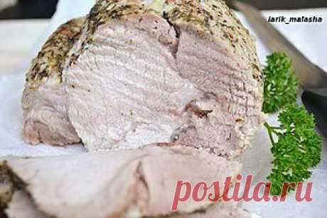 """Boiled pork in """"рукаве"""""""
