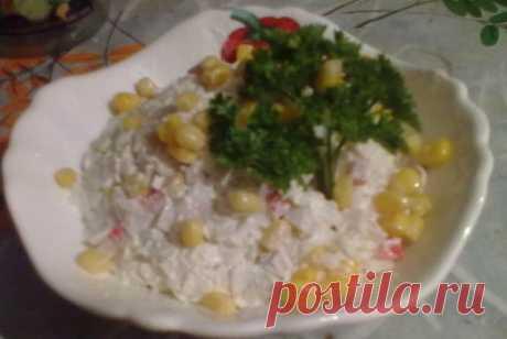 Крабовый салат с кукурузой и пекинской капустой рецепт – европейская кухня: салаты. «Еда»