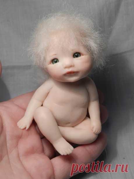 Лепим малыша с открытыми глазками из полимерной глины. Мастер-класс.