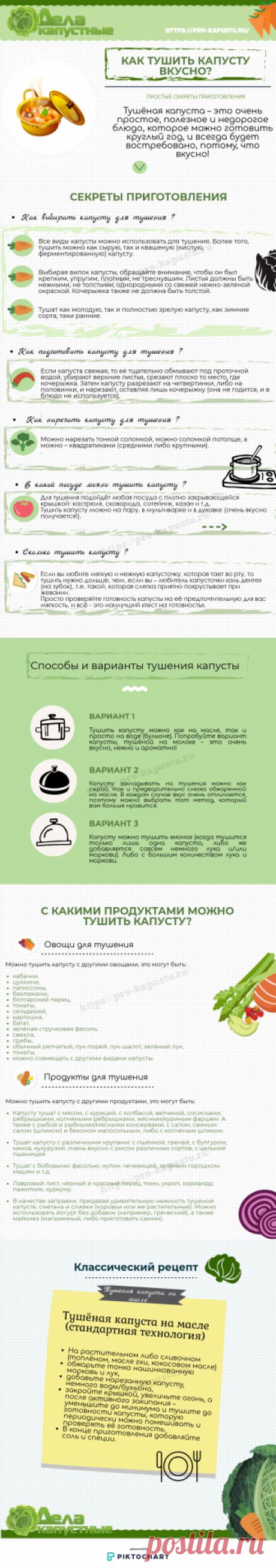 Тушеная капуста – рецепты домашнего приготовления