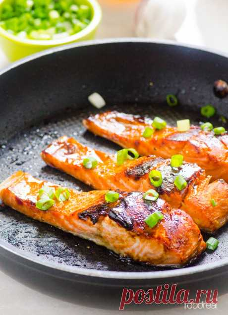 Honey with garlic a salmon - iFOODreal