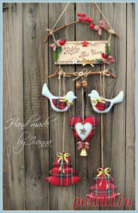 """Птички в композиции """"Новогоднее Счастье"""""""