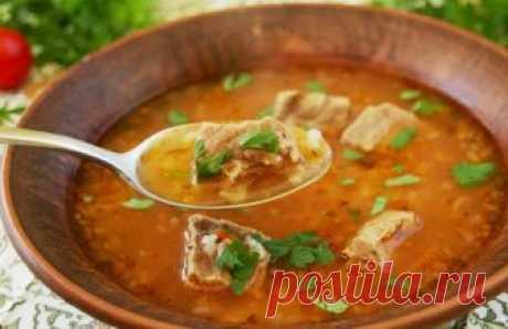 Суп харчо из говядины, рецепт приготовления в домашних условиях с рисом