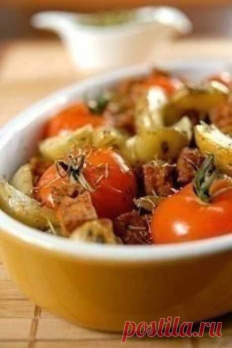 Запечённые овощи Ингредиенты:- 400 г. мякоти тыквы- по 1 стручку красного и оранжевого сладкого перца- 200 г. брюссельской капусты- 1 луковица- 8 помидоров черри- 5 ст. л. растительного масла- 1 ст. л. сухого белого вина- 1 ст. л. мёда- соль, перец по вкусуПриготовление:1. Мякоть тыквы, очистив, нарезать...