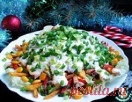 Новый салат с жареными крабовыми палочками, который имеет яркий и насыщенный вкус!